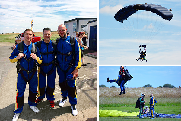 Alpha Manufacturing team skydiving