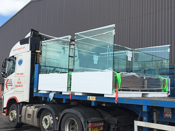 Finished Balconies Loaded for Dispatch