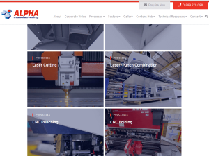Alpha's new look website
