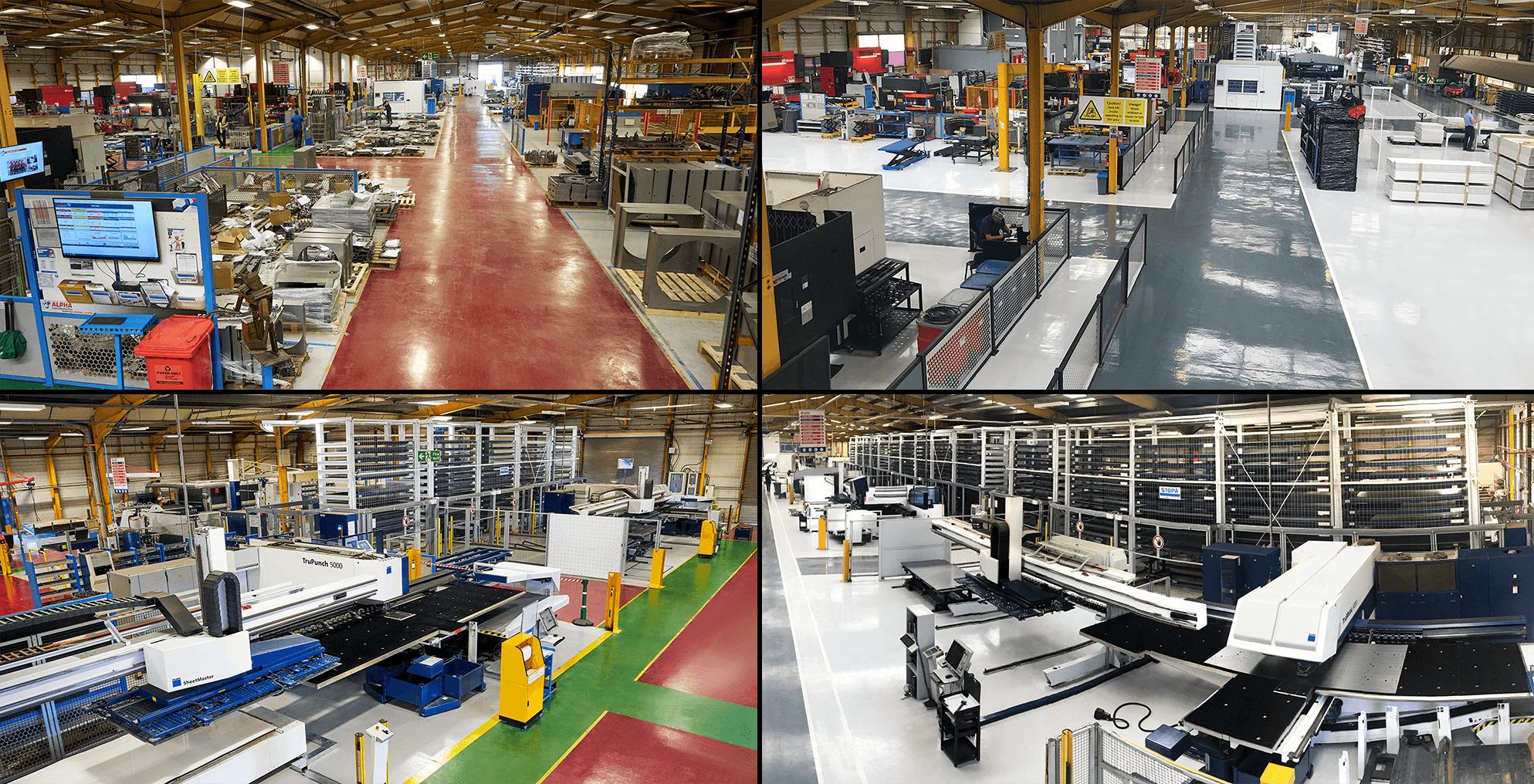 Precision sheet metal fabrication factory